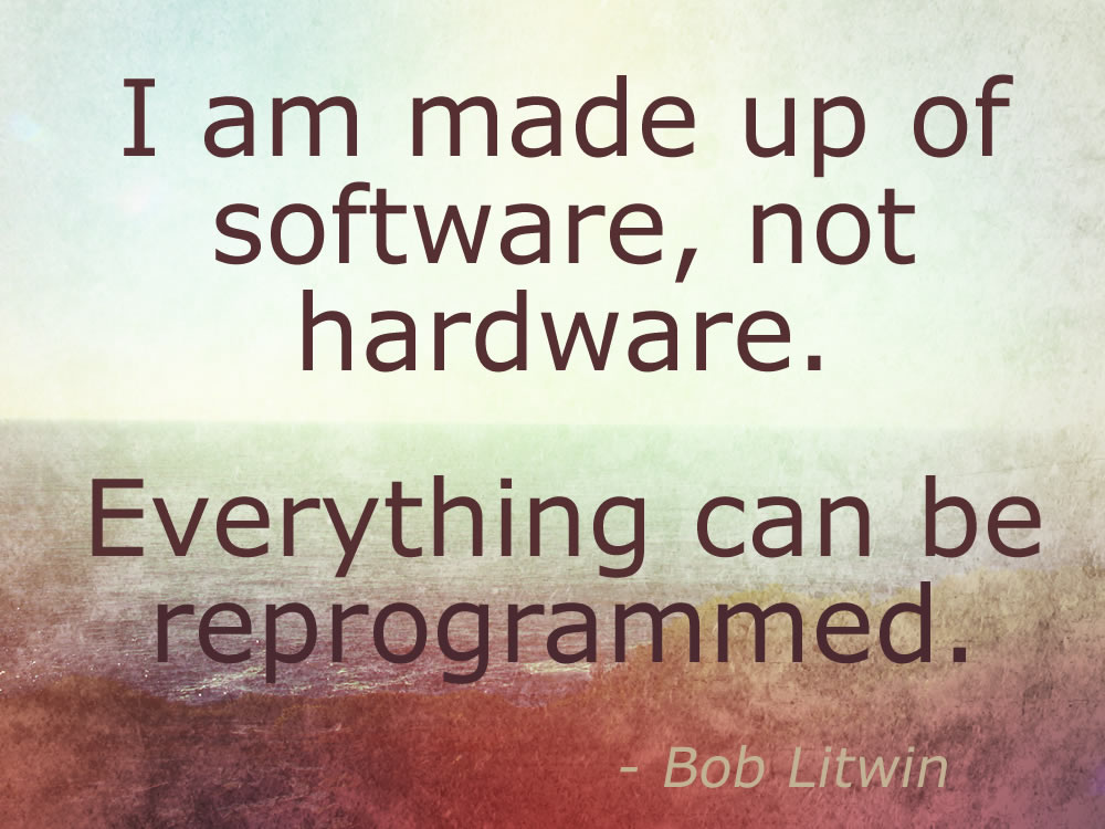 I am made of software, not hardware. Everything can be reprogrammed.