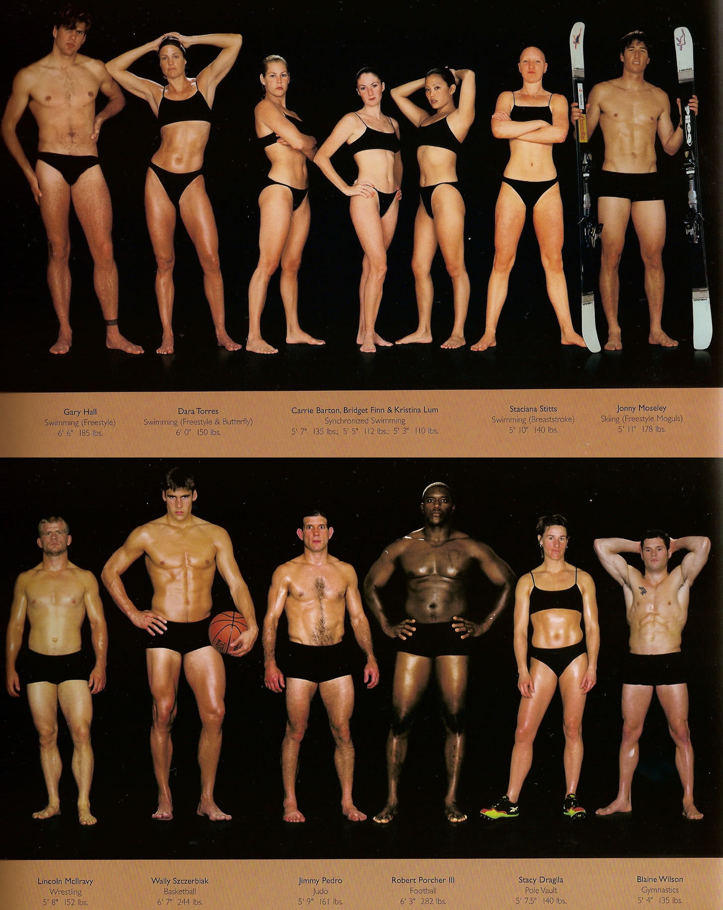 body types of different athletes
